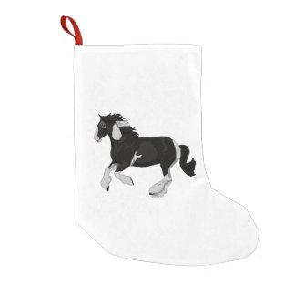 白黒ペンキのまだら馬のジプシーのVannerの馬 スモールクリスマスストッキング