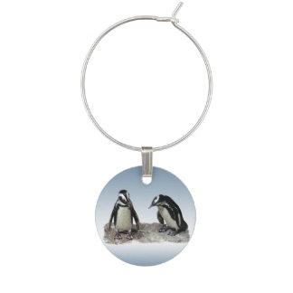 白黒ペンギンの鳥のワインチャーム ワインチャーム