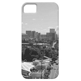 白黒ポートランドスカイライン iPhone SE/5/5s ケース