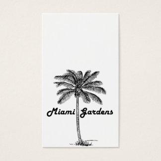 白黒マイアミの庭及びやしデザイン 名刺
