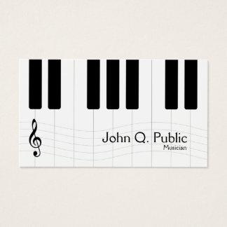 白黒ミュージシャンのピアノ 名刺