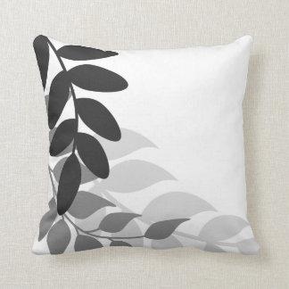 白黒モダンなつる植物 クッション