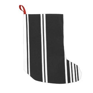 白黒モダンは縞で飾ります スモールクリスマスストッキング