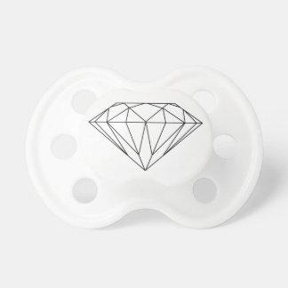 白黒モダンを引くダイヤモンド おしゃぶり