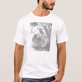 白黒ヨークシャテリアのヨークシャーテリア Tシャツ