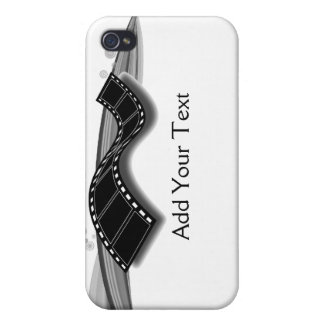 白黒リボンのフィルムのストリップ iPhone 4/4S カバー