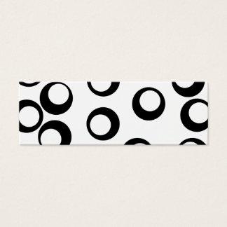 白黒レトロはパターンを一周します スキニー名刺