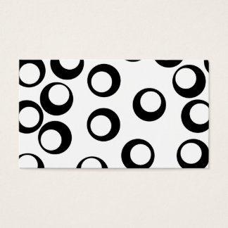 白黒レトロはパターンを一周します 名刺