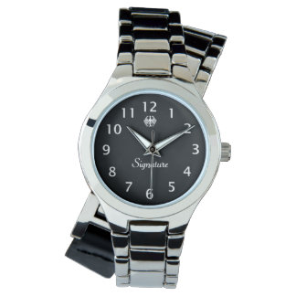 白黒ワシの署名 腕時計