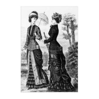 白黒ヴィンテージのプリントの女性 アクリルウォールアート