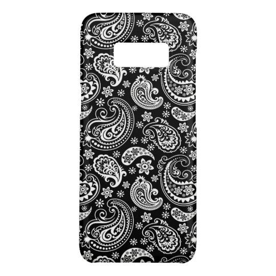 白黒ヴィンテージのペイズリーパターン Case-Mate SAMSUNG GALAXY S8ケース