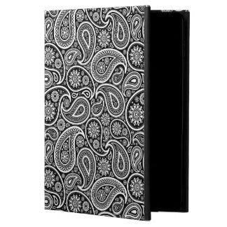 白黒ヴィンテージのペイズリーパターン POWIS iPad AIR 2 ケース