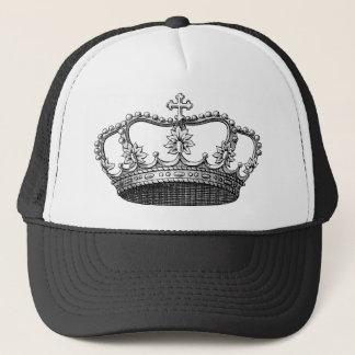 白黒ヴィンテージの王冠 キャップ