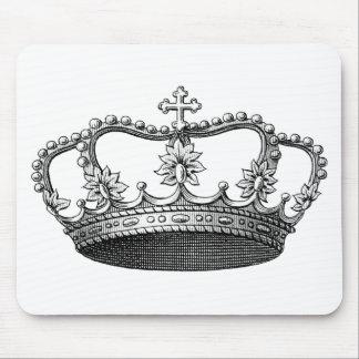 白黒ヴィンテージの王冠 マウスパッド