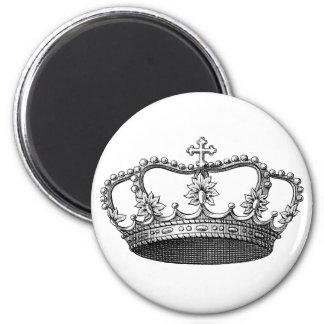 白黒ヴィンテージの王冠 マグネット