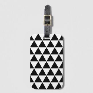 白黒三角形パターン手荷物のラベル ラゲッジタグ
