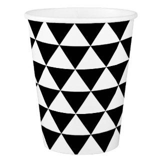 白黒三角形パターン 紙コップ