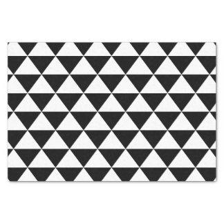 白黒三角形パターン 薄葉紙