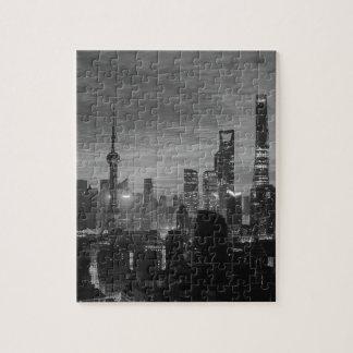 白黒上海 ジグソーパズル