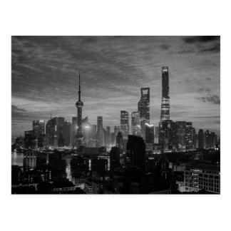 白黒上海 ポストカード