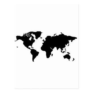 白黒世界のイラストレーション ポストカード