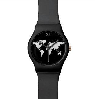 白黒世界地図 腕時計