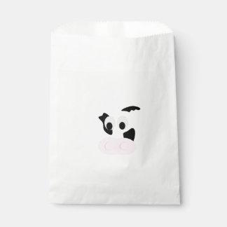 白黒乳牛またはウシの顔 フェイバーバッグ