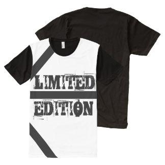 白黒人のTシャツ オールオーバープリントT シャツ