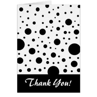 白黒円のデザイン カード