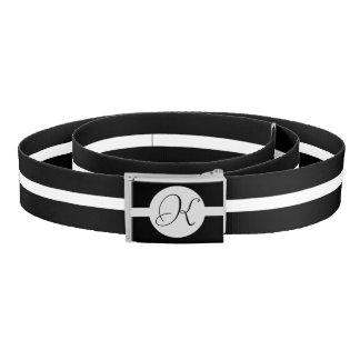 白黒円のモノグラム ベルト