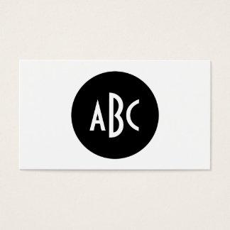 白黒円のモノグラム 名刺