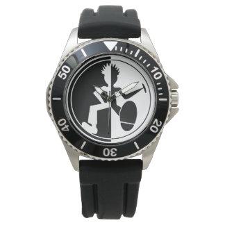 白黒写実的なダンサーの腕時計 腕時計