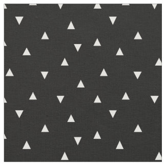 白黒分散させた三角形 ファブリック