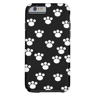 白黒動物の足パターン iPhone 6 タフケース