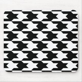 白黒千鳥格子のなパターン1 マウスパッド