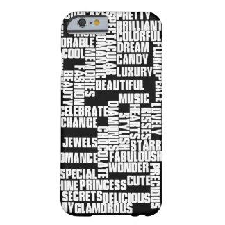 白黒印刷のガーリー世界 BARELY THERE iPhone 6 ケース