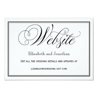 白黒原稿の結婚式のウェブサイトカード カード