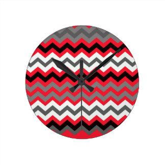 白黒口紅の赤 ラウンド壁時計