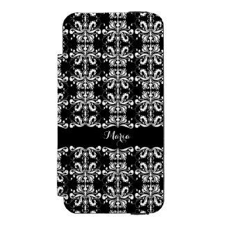 白黒名前を挙げられたDamask Incipio Watson™ iPhone 5 財布 ケース