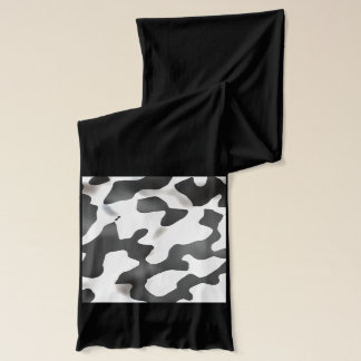 白黒国牛パターン スカーフ