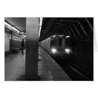 白黒地下鉄の写真 カード