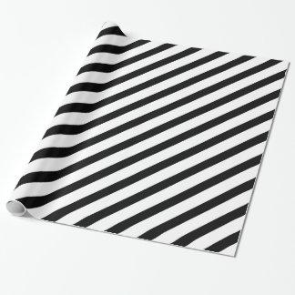 白黒基本的なストライプ1 ラッピングペーパー