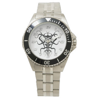 白黒外国の種族の入れ墨種273 腕時計