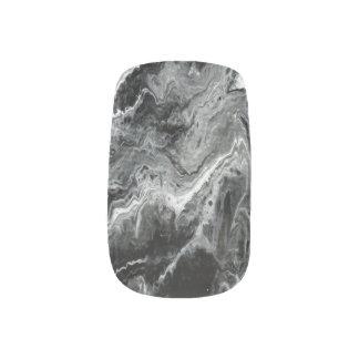白黒大理石のネイルアート ネイルアート