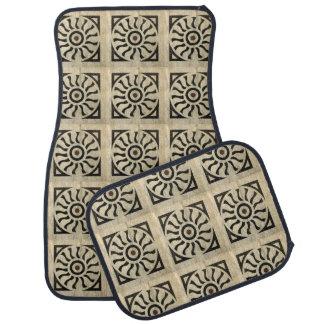 白黒大理石の装飾的なパターン カーマット