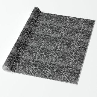 白黒大理石模様をつけられた一見 ラッピングペーパー