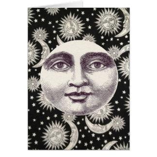 白黒天の月Notecard カード