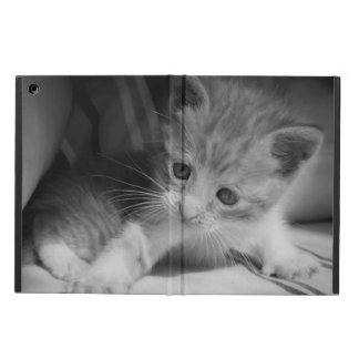 白黒子ネコの写真 iPad AIRケース