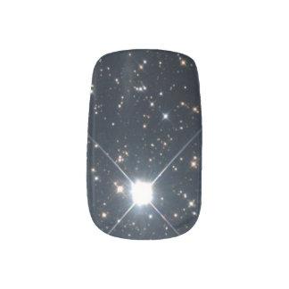 白黒宇宙の輝くな星 ネイルアート