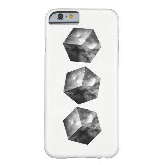 白黒宇宙宇宙の立方体- BARELY THERE iPhone 6 ケース